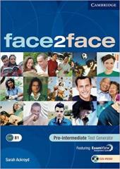 Face2face Pre-intermediate Test Generator CD-ROM - фото обкладинки книги