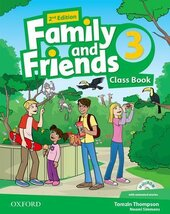 Family and Friends 2nd Edition 3: Class Book with MultiROM (підручник) - фото обкладинки книги