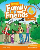 Family and Friends 2nd Edition 4: Class Book with MultiROM (підручник) - фото обкладинки книги