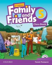 Family and Friends 2nd Edition 5: Class Book with MultiROM (підручник) - фото обкладинки книги
