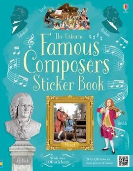 Famous Composers. Sticker Book - фото книги