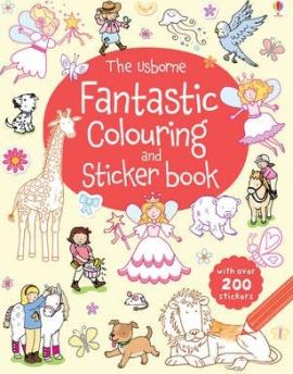 Книга Fantastic Colouring and Sticker Book