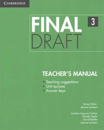 Книга для вчителя Final Draft Level 3 Teacher's Manual