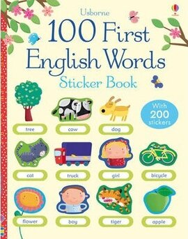 First 100 Words in English. Sticker Book - фото книги