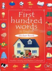 First 100 Words in English. Sticker Book - фото обкладинки книги