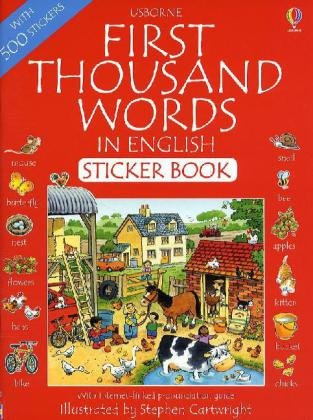 Книга First 1000 Words in English Sticker Book