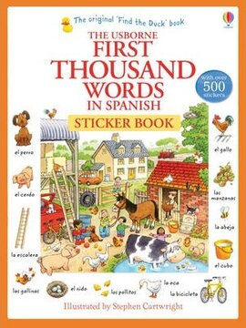 First 1000 Words in Spanish. Sticker Book - фото книги