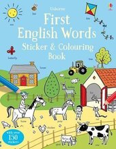 First English Words. Sticker and Colouring Book - фото обкладинки книги