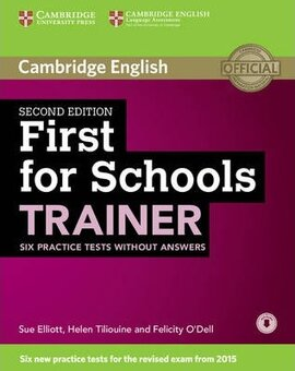 First for Schools Trainer Six Practice Tests without Answers with Audio - фото книги