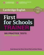 First for Schools Trainer Six Practice Tests without Answers with Audio - фото обкладинки книги