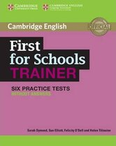 Комплект книг First for Schools Trainer Six Practice Tests without Answers with Audio