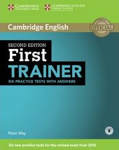 First Trainer Six Practice Tests with Answers with Audio - фото обкладинки книги