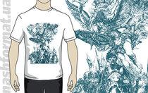 """Футболка """"Гетьман"""" з малюнком Сергія Якутовича, білого кольору"""