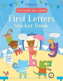 Get Ready for School. First Letters. Sticker Book - фото книги