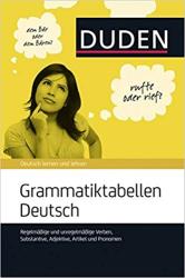 Grammatiktabellen Deutsch: Verben, Substantive, Adjektive, Artikel - фото обкладинки книги