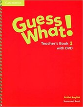Guess What! Level 1 Teacher's Book with DVD - фото обкладинки книги