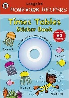 Homework Helpers: Times Tables. Sticker Book with CD - фото книги