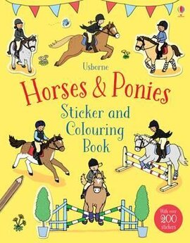 Horses & Ponies. Sticker and Colouring Book - фото книги