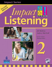 Impact Listening Level 2 Student's book+CD (підручник+аудіодиск) - фото обкладинки книги