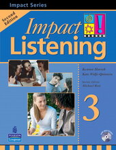 Impact Listening Level 3 Student's book+CD (підручник+аудіодиск) - фото обкладинки книги