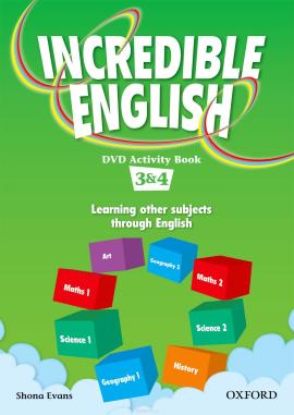 Incredible English 3-4. DVD Activity Book (робочий зошит до відеодиска) - фото книги