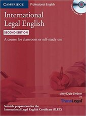 International Legal English Student's Book with Audio CDs (3): A Course for Classroom or Self-study Use - фото обкладинки книги