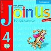 Join Us for English 4 Songs Audio CD - фото обкладинки книги