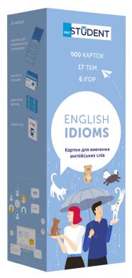 Картки для вивчення англійських слів English Student. English Idioms - фото книги