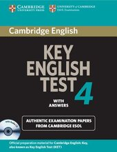 KET Practice Tests: Cambridge Key English Test 4 Self Study Pack - фото обкладинки книги