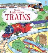 Look Inside Trains - фото обкладинки книги