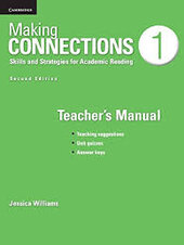 Making Connections Low Intermediate Teacher's Manual : A Strategic Approach to Academic Reading and Vocabulary - фото обкладинки книги
