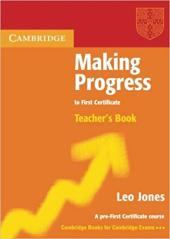 Аудіодиск Making Progress to First Certificate Teacher's Book