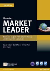Market Leader 3rd Edition Elementary Flexi Student Book 1 + DVD + CD (підручник) - фото обкладинки книги