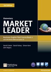 Market Leader 3rd Edition Elementary Flexi Student Book 2 + DVD + CD (підручник) - фото обкладинки книги