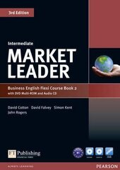 Market Leader 3rd Edition Intermediate Flexi Student Book 2 + DVD + CD (підручник) - фото обкладинки книги