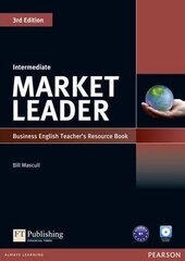 Market Leader 3rd Edition Intermediate Teacher's Resource Book + Test Master CD (книга вчителя) - фото обкладинки книги
