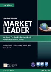 Market Leader 3rd Edition Pre-Intermediate Flexi Student Book 1 + DVD + CD (підручник) - фото обкладинки книги