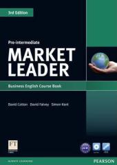 Market Leader 3rd Edition Pre-Intermediate Student Book + DVD (підручник) - фото обкладинки книги