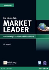 Market Leader 3rd Edition Pre-Intermediate Teacher's Resource Book + Test Master CD (книга вчителя) - фото обкладинки книги