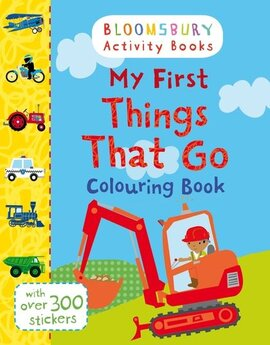 My First Things That Go Colouring Book - фото книги