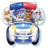 На дорозі: Поліцейська машина - фото обкладинки книги