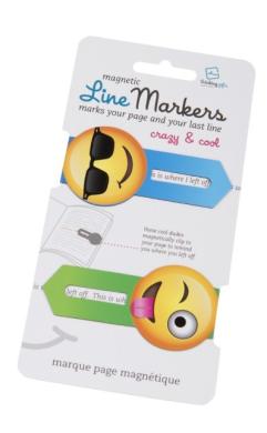 Набір закладок Line Markers Crazy & Cool (2шт.) - фото книги