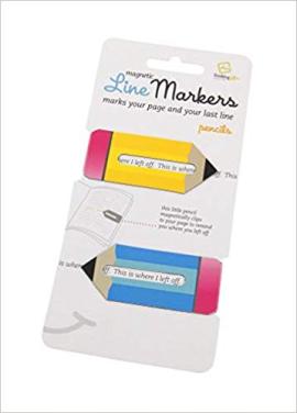 Набір закладок Line Markers Pencils (2шт.) - фото книги