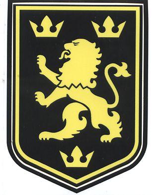 Наклейка Галицький лев чорна