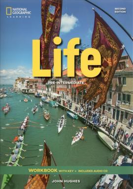 Робочий зошит National Geographic Learn Second Edition Life Pre-Intermediate Workbook with Key includes Audio CD John Hughes