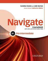 Navigate Pre-Intermediate B1: Coursebook with DVD and Online Practice - фото обкладинки книги