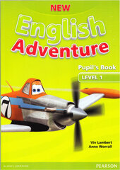 New English Adventure 1 Student Book + DVD (підручник) - фото обкладинки книги