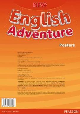 New English Adventure 2 Posters (плакати) - фото книги