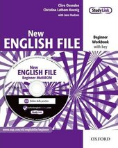 New English File Beginner. Workbook with Key with MultiROM - фото обкладинки книги
