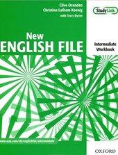 New English File Intermediate. Workbook with Answer Booklet with MultiROM - фото обкладинки книги